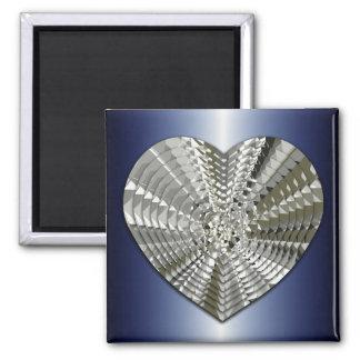 Sparkling Bling Diamond Heart Magnet