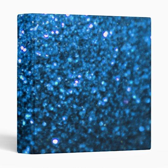 Sparkling Blue Glitter 3 Ring Binder