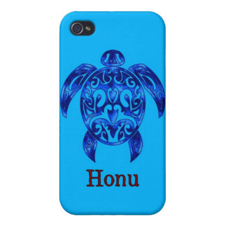 Sparkling Blue Hawaiian Sea Turtle on Ocean Blue iPhone 4/4S Cover