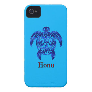 Sparkling Blue Hawaiian Sea Turtle on Ocean Blue iPhone 4 Case-Mate Case