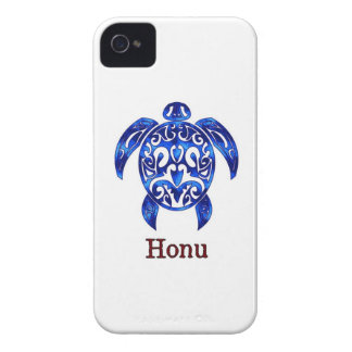 Sparkling Blue Hawaiian Sea Turtle on White iPhone 4 Cover