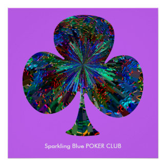 Sparkling Blue POKER CLUB Poster