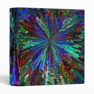 Sparkling BLUE STAR 3 Ring Binders