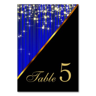 Professional Business Sparkling Blue Star Lights Card