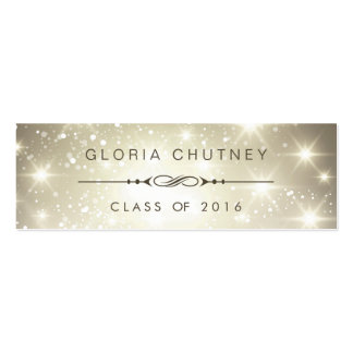 Sparkling Bokeh Personal Graduation Name Card Business Cards