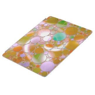sparkling bubbles green iPad cover