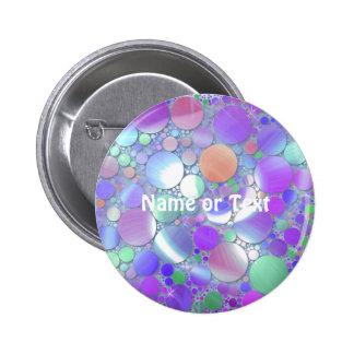 sparkling bubbles purple pinback buttons