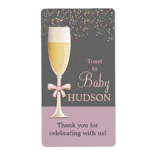 Sparkling Bubbly Sip & See Wine Labels