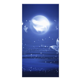 Sparkling Butterflies Luna moths fly by moon light Card