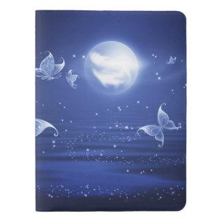 Sparkling Butterflies Luna moths fly by moon light Extra Large Moleskine Notebook