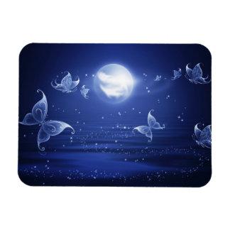 Sparkling Butterflies Luna moths fly by moon light Magnet