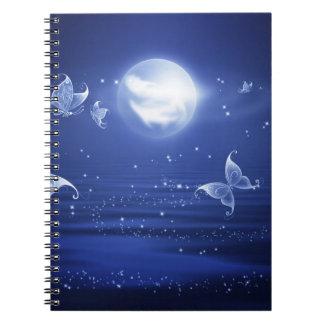 Sparkling Butterflies Luna moths fly by moon light Notebook