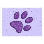 sparkling cat paw print - purple large business cards (Pack of 100)