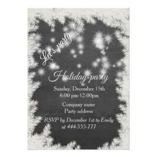 Sparkling  Chalkboard corporate holiday party Card