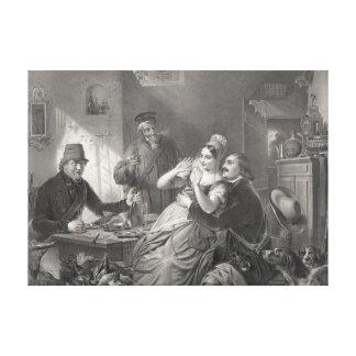 Sparkling Champagne 1850 Canvas Print