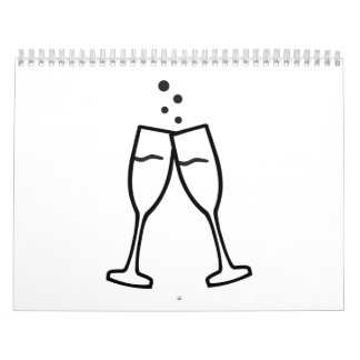 Sparkling Champagne glasses Calendar