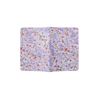 Sparkling Cherry Blossoms on Purple Passport Holder