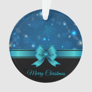 Sparkling Christmas blue design with ribbon