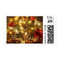 Sparkling Christmas Postage Stamp Medium