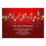 Sparkling Christmas Tree Lights Holiday Party Announcements