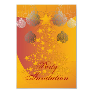 Sparkling Christmas Tree  Party Invitation