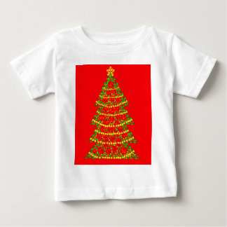 Sparkling Christmas tree - red Baby T-Shirt