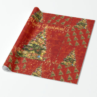 Sparkling Christmas Tree Wrapping Paper