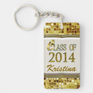 Sparkling Class Of 2014 Gold Sequins Look Keychain