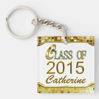 Sparkling Class Of 2015 Gold Sequins Look Keychain