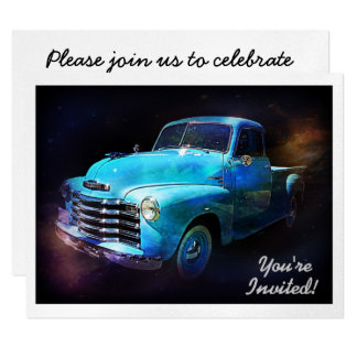 Sparkling Classic Vintage Retro Truck Card