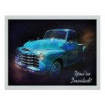 Sparkling Classic Vintage Retro Truck Invitations
