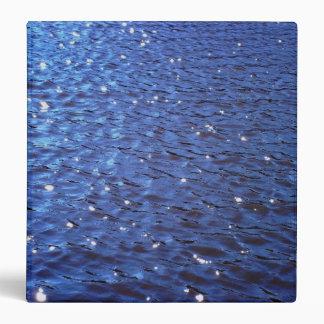 Sparkling Clear Blue Ocean Water Waves Photo Vinyl Binder