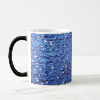Sparkling Clear Blue Ocean Water Waves Photo 11 Oz Magic Heat Color-Changing Coffee Mug