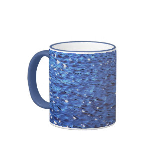 Sparkling Clear Blue Ocean Water Waves Photo Ringer Coffee Mug