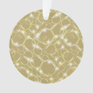 Sparkling Clear Translucent Bubble Light Champagne Ornament