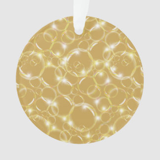 Sparkling Clear Translucent Bubbles On Champagne Ornament