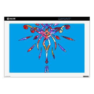 """Sparkling Colorful Star Starburst Designer Sparkle 17"""" Laptop Skins"""