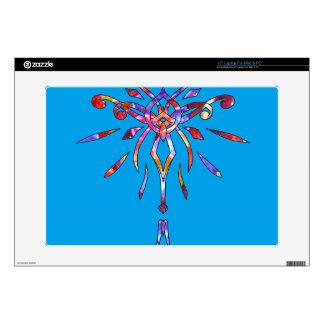 """Sparkling Colorful Star Starburst Designer Sparkle 15"""" Laptop Skin"""