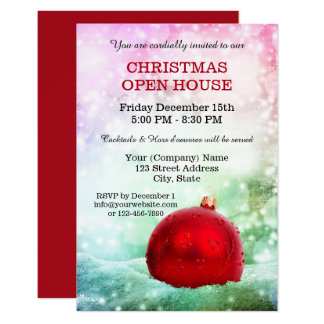 Sparkling Company Holidays Open House Invitation