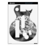 Sparkling Crocus in Black and White Guitar Hero Decal
