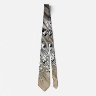 Sparkling Dew Dandelion Khaki Background Neck Tie