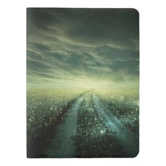 Sparkling Dew filled field during Sunrise Extra Large Moleskine Notebook