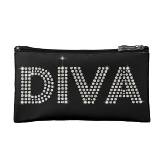 Sparkling Diamond Diva Cosmetic Bag