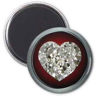 Sparkling Diamond Heart Magnet