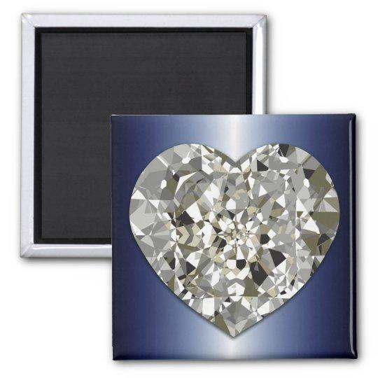 Sparkling Diamond Heart Magnet