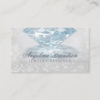 Sparkling Diamond Jeweler Jewelry Designer Card