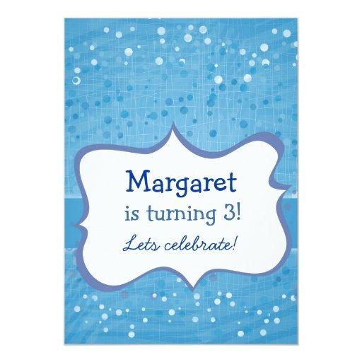 sparkling dots on blue 13 cm x 18 cm invitation card
