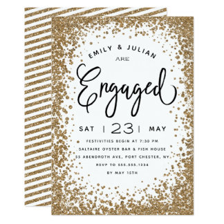 Sparkling Engagement Party Invitation