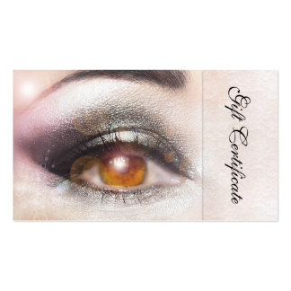 Sparkling Eye Beauty Gift Certificate Template Business Card