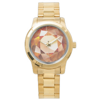 "Sparkling Faux-""Amber"" Watch"